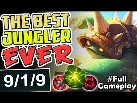 THE BEST SEASON 8 JUNGLER EVER | New Runes RAMMUS JUNGLE | NEW RUNES SEASON 8 RANKED Full Gameplay