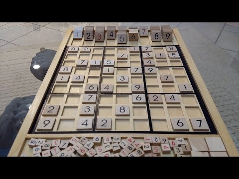 Wooden Sudoku Game Board - Super Awesome!