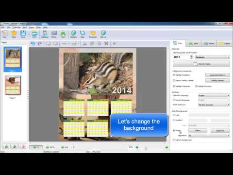 Personalized Desk Calendar 2014 - Video Demo