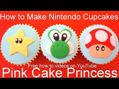 How to Make Star & Mushroom Cupcakes! Nintendo Super Mario Bros & Yoshi's New Island theme Cupcakes