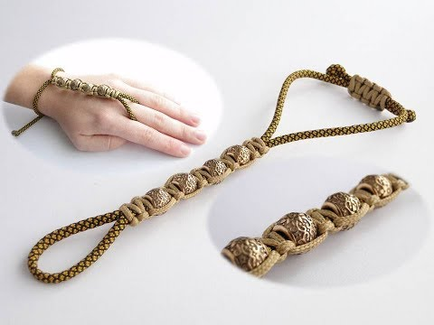 How to Make a Paracord/Shamballa Style Wrist to Ring Bracelet-Indian Bridal Haath Phool Bracelet