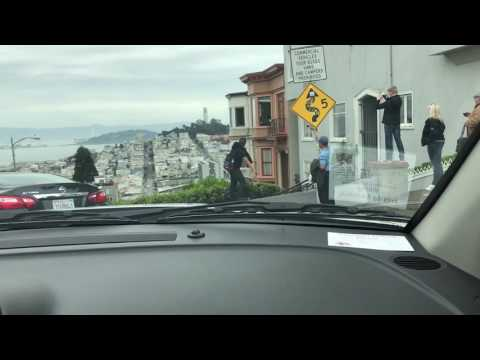 Driving through San Francisco and down Lombard Street.