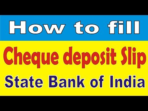 How to fill Cheque deposit slip/form of State Bank of India ||Simplified in Hindi||