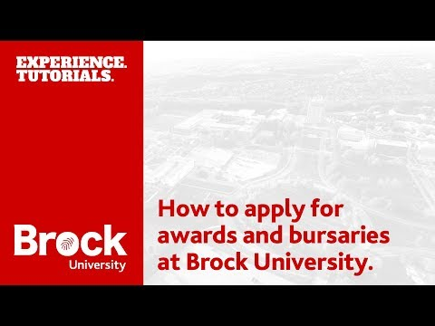 How to apply for student awards and bursaries at Brock University