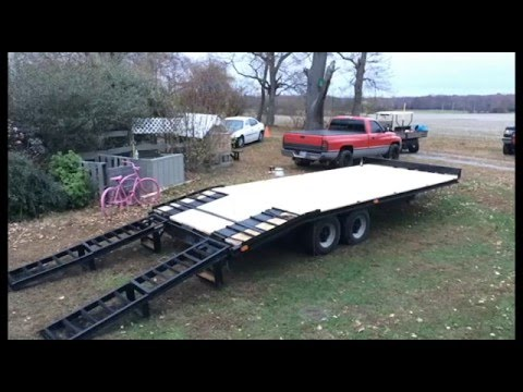 Deckover trailer new paint & deck