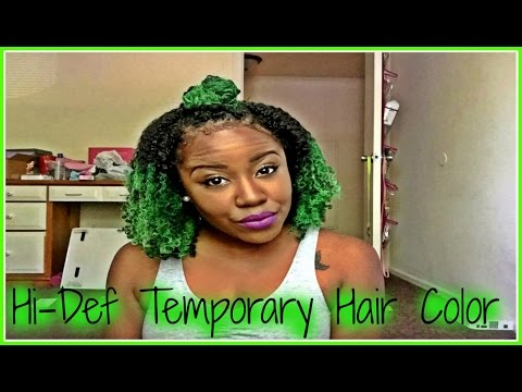 Temporary Color Using Jerome Russell Hair Spray on Natural Hair