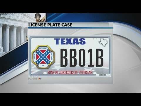 Justices struggle with free speech case over license plates