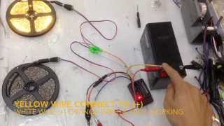 Twin Color Led Control Unit 12v 15w Fade In Out Brightness Adjustment