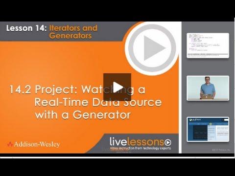 Using Python Generator to Monitor Data