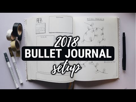 2018 Bullet Journal Setup + February Plan With Me (minimal)