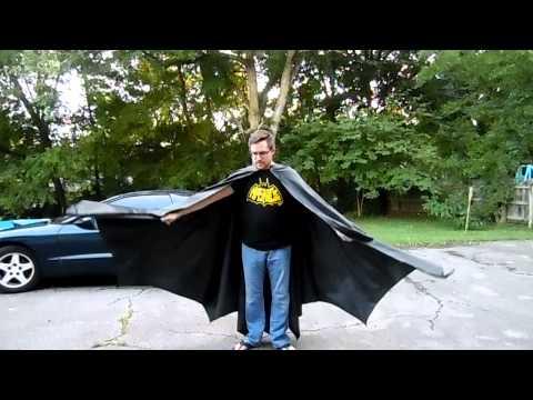 Batman Costume Latex Cape Movement and Flow