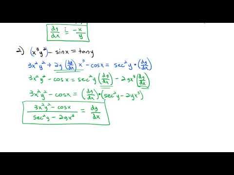 3.8 Implicit Differentiation