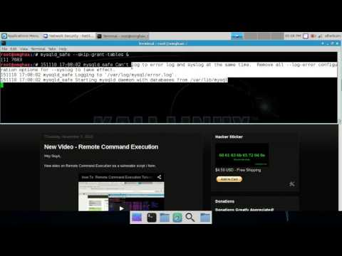 How To: Reset Linux MySQL Root user password - NetSecNow Kali Linux 2.0
