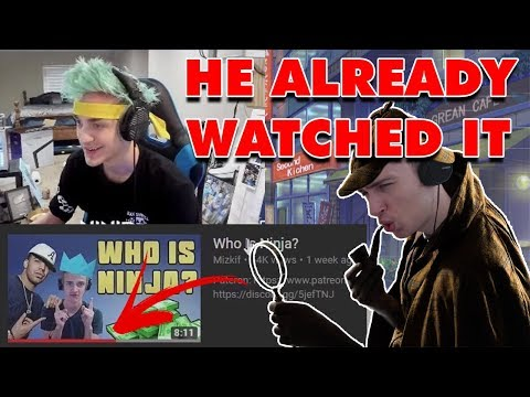 Ninja didn't get the joke and faked his reaction