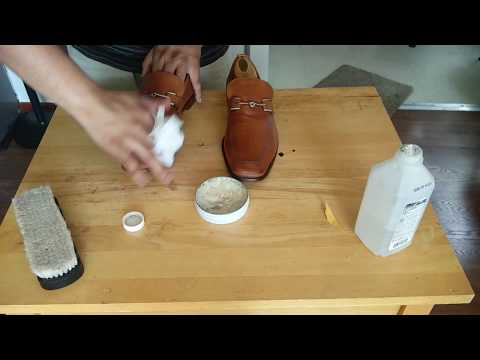 Cole Haan horsebit loafers cleaning, conditioning and polishing ASMR shoe shine