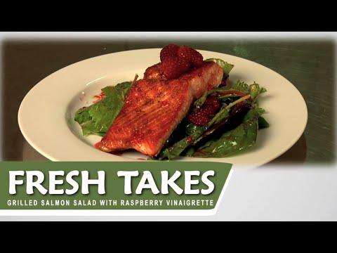 Grilled Salmon Salad with Raspberry Vinaigrette: Fresh Takes