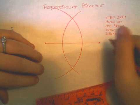 Construct Perpendicular Bisector Using the Safe-T compass