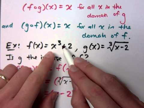 College Algebra - Part 134 (Inverse Functions)