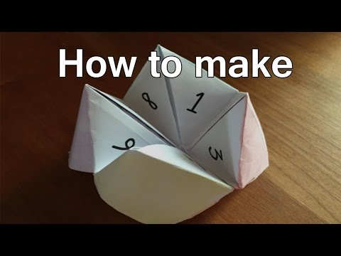 How To Make Fortune Tellers Out Of Paper - Fortune Teller Origami Steps