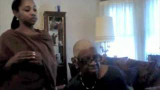 """""""Even Me"""" Anndretta sings as Lady Helen Stephens, 80 yr old former voice teacher, plays piano"""