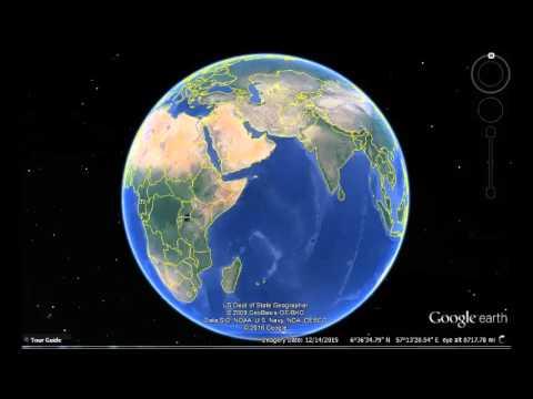 Somalia Google Earth View