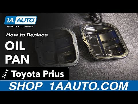 How to Replace Oil Pan 10-13 Toyota Prius