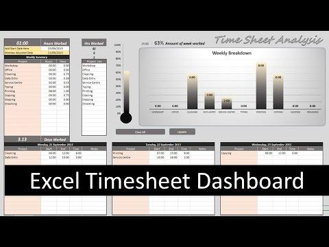 Excel Timesheet Dashboard