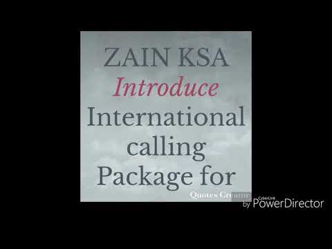 International calling Package from KSA 2018