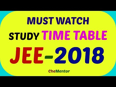 Perfect study time table for IIT-JEE 2018 I Daily routine for IIT aspirant with time management