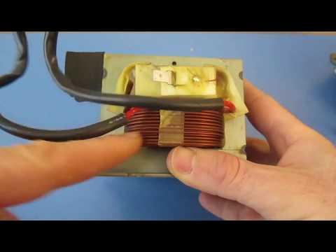 Cómo probar el transformador del horno de microondas Alto voltaje HV con un multímetro