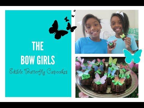 🐛 Edible 🦋 Butterfly Cupcakes - 🌱 KiFoodie