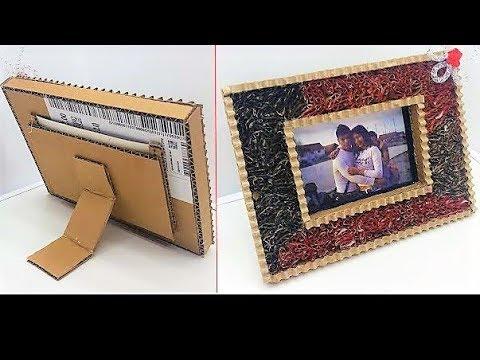 How To Make a Cardboard Photo Frame