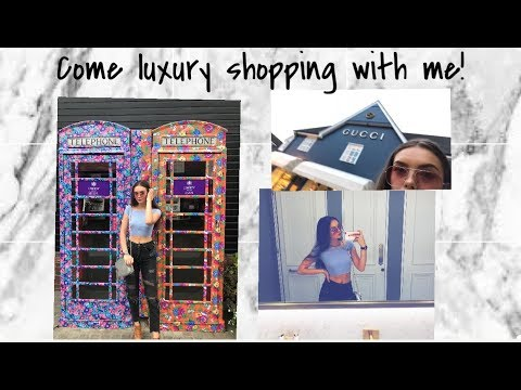 COME LUXURY SHOPPING WITH ME! | India Grace