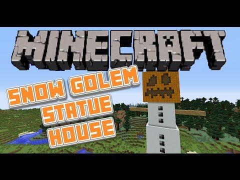 Minecraft SNOW GOLEM HOUSE Statue / Scale Model / Let's Build