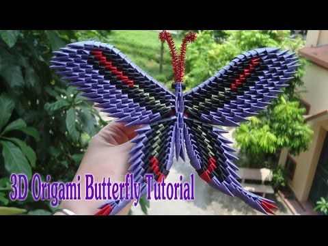 HOW TO MAKE 3D ORIGAMI BUTTERFLY | DIY PAPER BUTTERFLY TUTORIAL