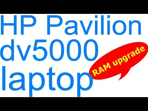 rd #238 How to upgrade the RAM memory for the HP Pavilion dv5000 laptop