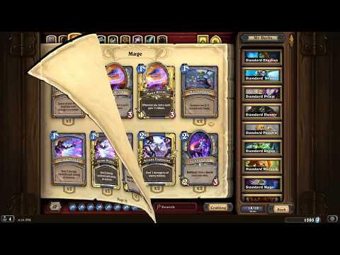 HearthStone:  Purging gold cards to earn more dust after HoF cards get