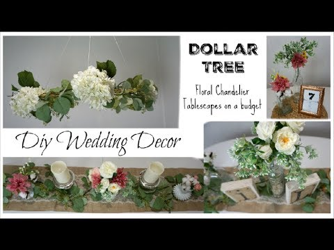 DOLLAR TREE DIY WEDDING DECOR, FLORAL CHANDELIER, CENTERPIECES | Momma From Scratch