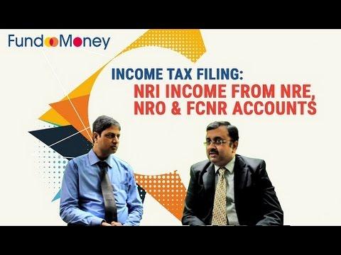 Income Tax Filing: NRI Income From NRE, NRO and FCNR Accounts