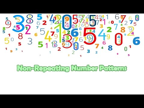 Non-Repeating Number Patterns