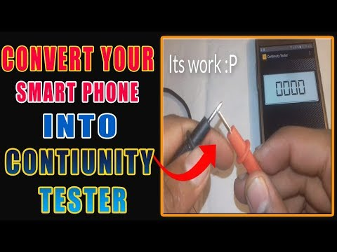 Convert your android Phone into Continuity tester (DIY continuity tester)