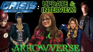 Crisis on Infinite Earths Arrowverse Update & Interview with Huntress Ashley Scott!