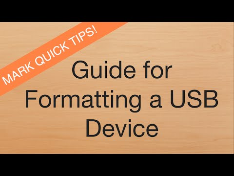 Mark Quick Tips: Formating a USB Device