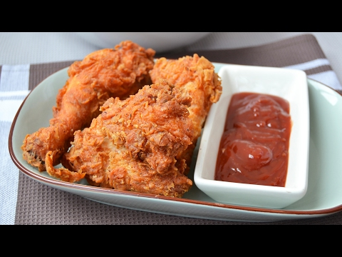 Homemade KFC Fried Chicken - How to Make Crispy Spicy Fried Chicken Recipe
