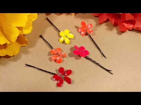 DIY Hair clips/Bobby pins using nail polish !