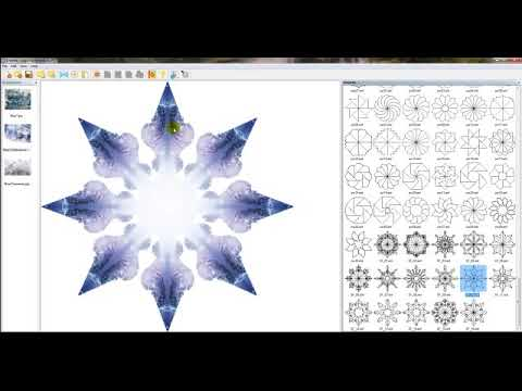 Snowflake Template for Dazzling Reflections Kaleidoscope Software