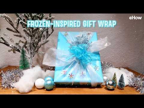 Frozen-Inspired Gift Wrap