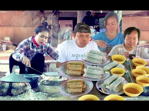 Visit Spring Roll Wrapper Village in Battambang Province   Spring Roll Cambodian Traditional Food