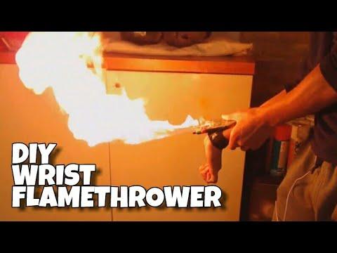 Make a Wrist Flamethrower! - AMAZING DIY Lighter Hack!!!
