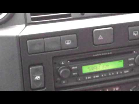 Faulty Defender radio from new (2012 Defender 110). Example 1